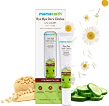 Mamaearth Bye Bye Dark Circles, Under Eye Cream for Dark Circles, with Cucumber & Peptides - 20ml