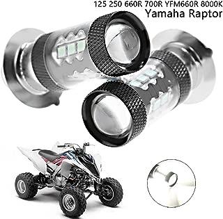 80W LED Headlight Bulbs 8000K Icy Blue for Yamaha Raptor 250 660R 700R YFZ450 YFZ450R YFZ450SE YFZ450X Rhino 700 Kodiak 400 Grizzly 400 450 660 Banshee 350 Bear Tracker 250 Big Bear Blaster Breeze