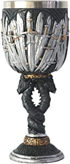 Legends of the Swords Glass Wine Vessel Stainless Steel Cup Gifts for Christmas, Halloween, Mother's & Father's Days