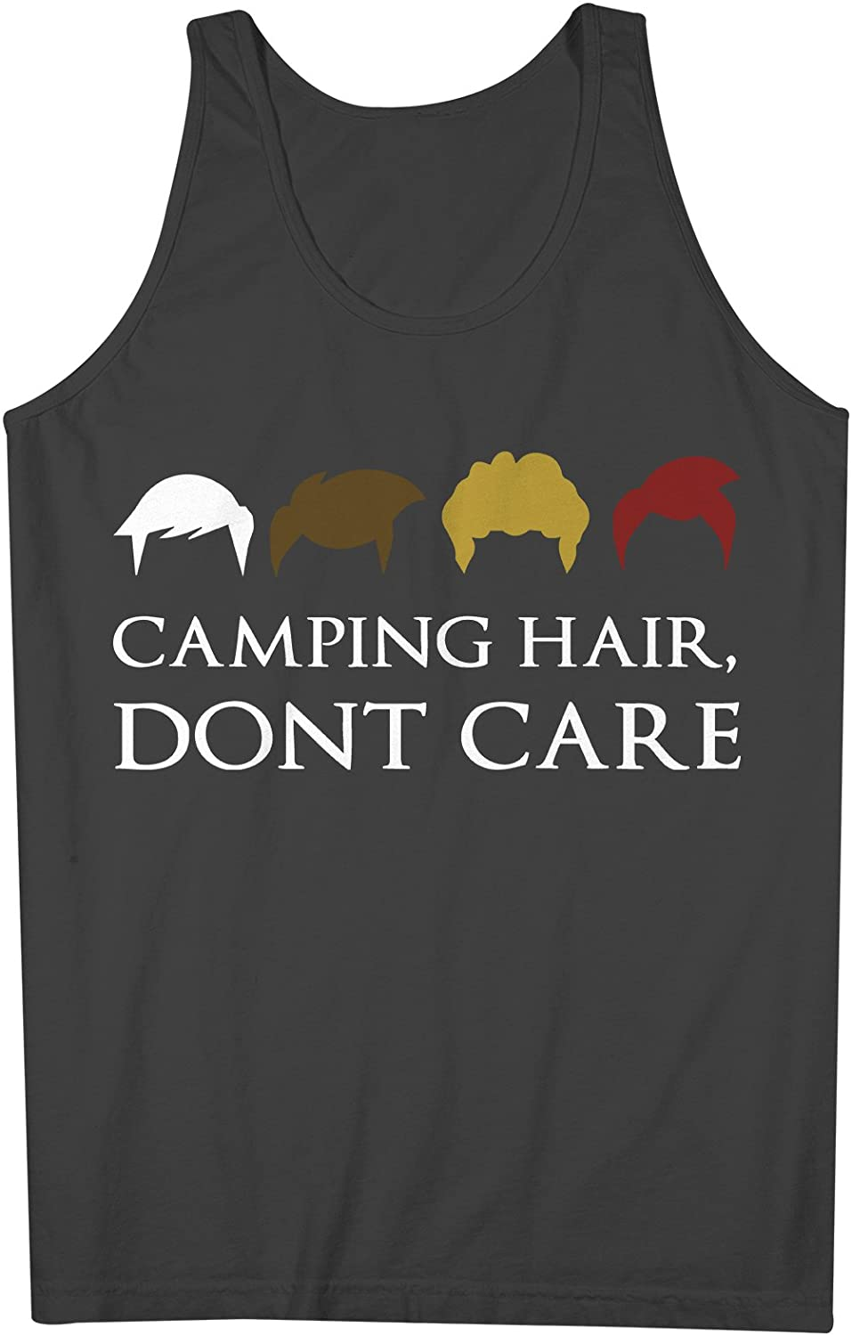 Camping Hair Don't Care おかしいです Traveling 男性用 Tank Top Sleeveless Shirt