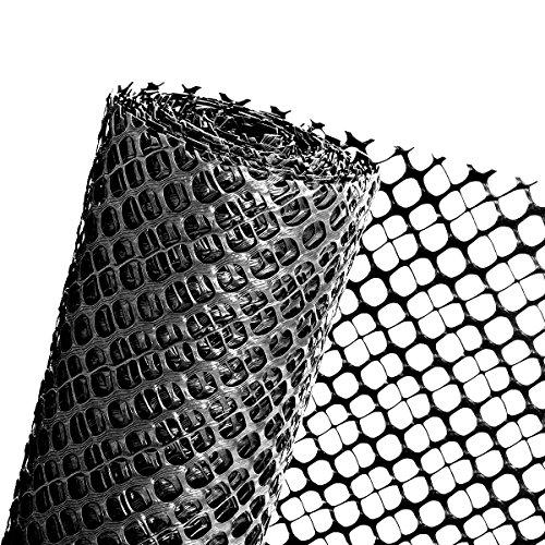 Haga® pare-neige Grille Clôture Protection pare-neige Clôture Noir 1,2 m Hauteur (au mètre)