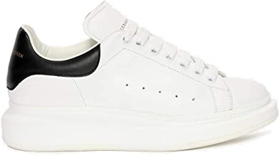 Women's&Men's Elastic and wear-Resistant Casual Sports Shoes White/Black Oversized Leather Flat Bottomed Sports Sneakers Unisex Fashion Walking Shoes in Fashion Style