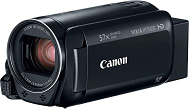 """Canon VIXIA HF R800 Full HD Camcorder with 57x Advanced Zoom, 1080P Video and 3"""" Touchscreen - Black (US Model)"""