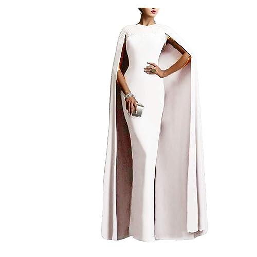 89ddc0d9f85 Ellenhouse Women s Long Mermaid Formal Gown Prom Evening Dresses with Cape  EL349