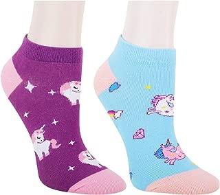Women Novelty Funny No Show Ankle Socks, Sloth Corgi Unicorn Llama Cat Flamingo