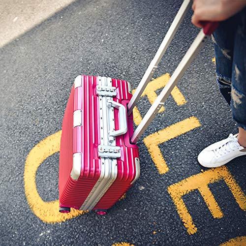 BLBSS 18-inch koffer, kleine inbouwdoos, zakelijke aluminium framekoffer koffer, wachtwoordslot/pc + ABS-materiaal lichtgewicht en sterk slijtvast