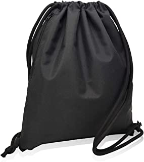CALACH Drawstring Backpack Sports Gym Bag Water Resistant Yoga Travel Sackpack for Women Men Children Large Size with Zipp...
