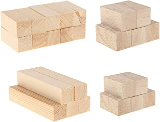 IPOTCH 25 Pack Unfinished Basswood Carving Blocks Kit, Natural Solid Wood Carving Block Hobby Set for Kids Adults Beginner...