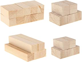 IPOTCH 25 Pack Unfinished Basswood Carving Blocks Kit, Natural Solid Wood Carving Block Hobby Set for Kids Adults Beginner to Expert