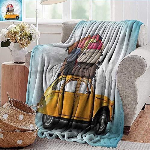 Xaviera Doherty Flanell-Fleece-Decke für Reisen, Maya-Stadt mit Palmen, Überwurf, leicht, gemütlich, aus Mikrofaser, solide Decke, Polyester, Farbe08, 60'x80'inch