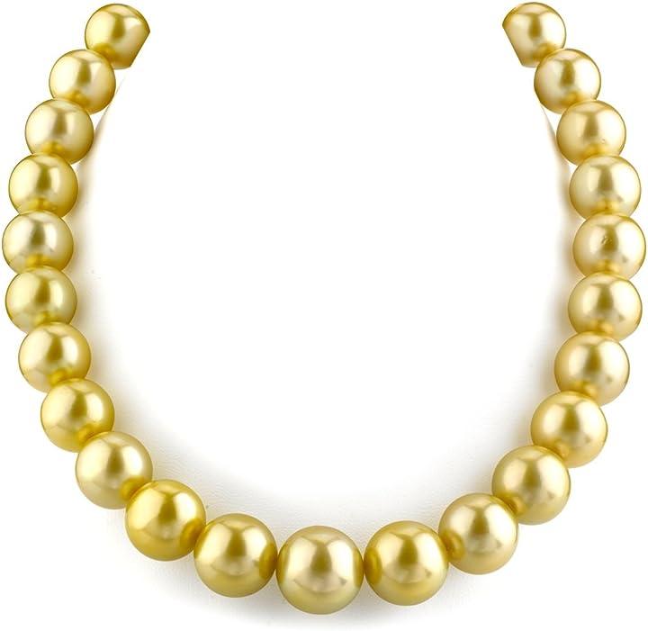 Collana di perle coltivate in mare del sud, 13-15,4 mm, qualità aaa -  the pearl source 13154-GSSP-RA