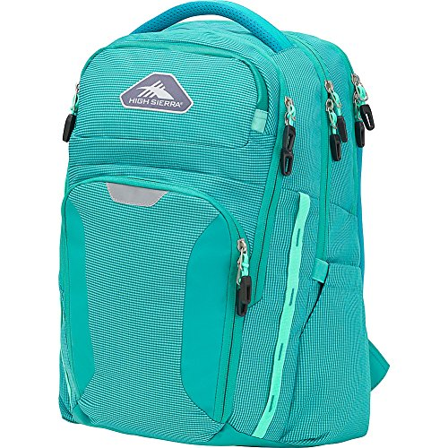 High Sierra Autry Backpack, 15.5-inch Laptop Backpack, Ideal for High School and College Students Turquoise/Aquamarine