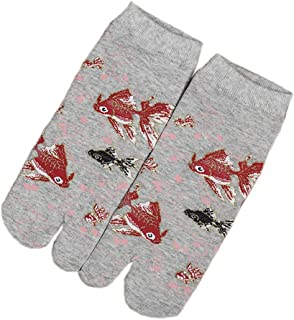 Calcetines de estilo japonés con sandalias con punta dividida Tabi Ninja Geta Calcetines de geisha para mujer, S-18