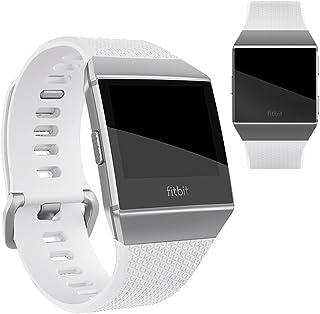 Vicstar Fitbit Ionic 交換ベルト バンド 高級シリコーン製 柔らか ソフト カラフル 超薄 超軽量 接続工具付く 簡単装着 ホワイト