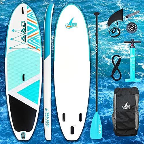 AKD Seastar 10'8'Tablas Paddle 325 X86 X15cm Paddle Surf 165KG / 346L, Bomba con ManÓMetro, Pala Deportiva De Aluminio Ajustable, Mochila Y Correa, Sede De La Empresa En BerlÍN