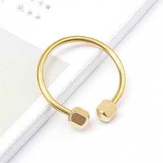 KUNSON Compact Practical Anti Loss Design Brass Screw Lock Key Chain Ring, Solid EDC Keychain Key Holder (Circular Shape)