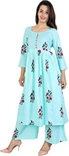 6TH AVENUE STREETWEAR Cotton Kurti with Palazzo Set for Women