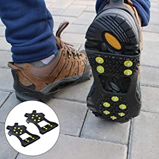 10 Steel Studs Anti-slip For Winter Sports Traction Cleat Snow Grips Ice Grips Rustproof Spikes Useful For Hiking