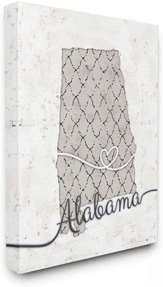 Stupell Industries Alabama Patterned Grey Ranking TOP13 Ar US Cheap mail order shopping State by Design