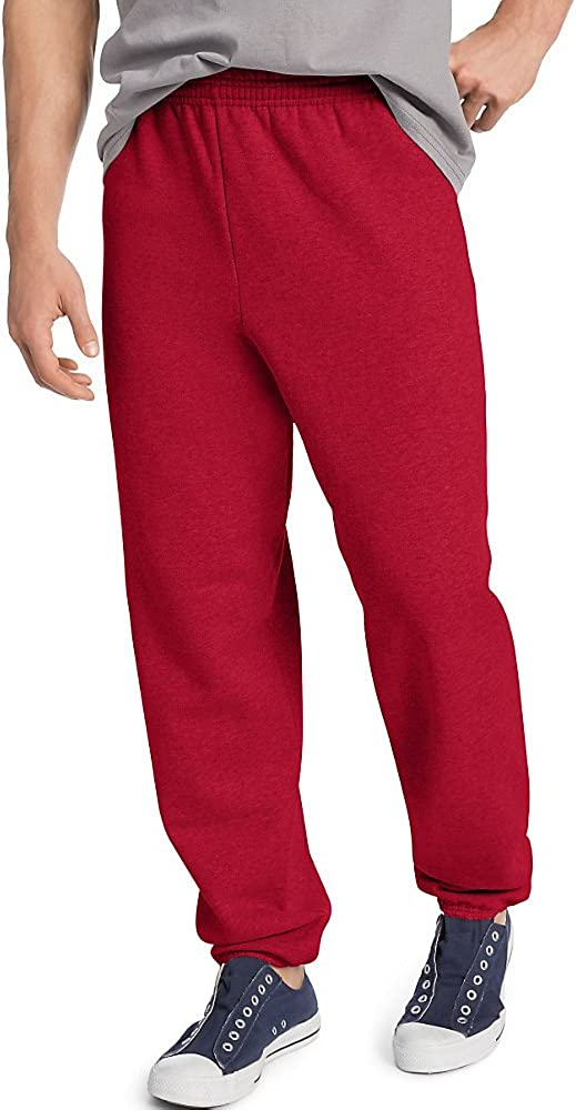 Hanes ComfortBlend EcoSmart Sweatpants_Deep Men's Red_Large Free Shipping New Shipping Free Shipping New