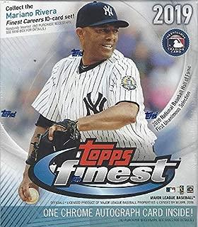 2019 Topps Finest MLB Baseball MINI box (6 pks/bx, ONE Autograph card)