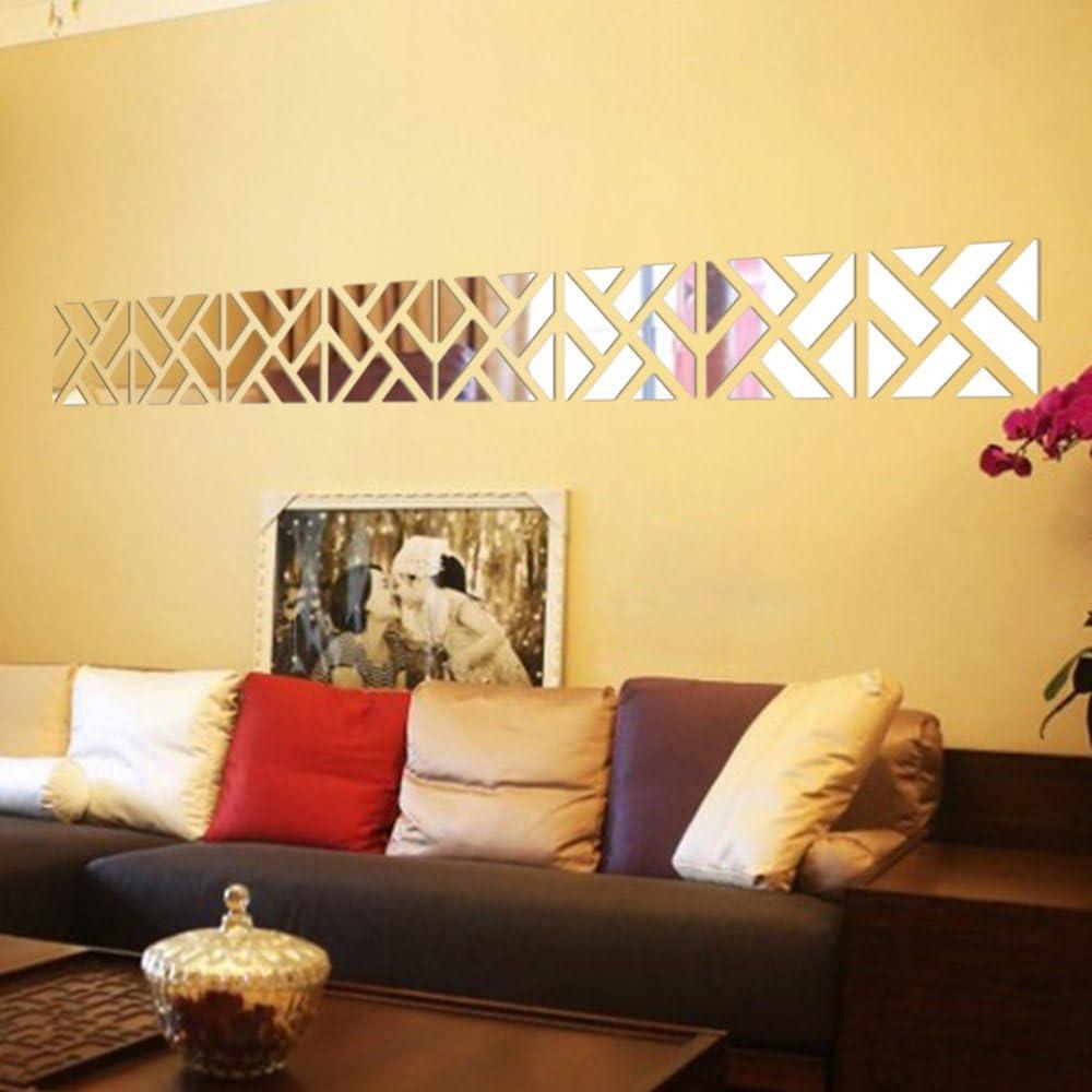 Removable 32pcs 3D Mirror Acrylic Wall Sticker DIY Art Vinyl Decal Home Decor FT
