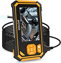 Industrial Endoscope,ROTEK 5M 1080P HD 4.3inch LCD Screen 2600mAh Rechargeable Battery..