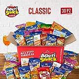 APERIBOX CLASSIC 30 - Snack box piena di patatine, snack salati, stuzzichini per aperitivo fai da te e frutta secca. Almeno 30 prodotti, ottima idea come box regalo. Ampia varietà di snack!