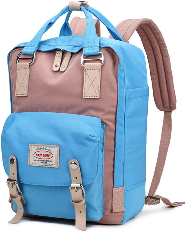 Damenbeutel-Mode-Rucksack weiblich wasserdichte Computertasche Mittelschüler Tasche Oxford Stoff-Rucksack,A,OneGröße