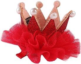 CAOLATOR Horquilla Diademas Niñas Aro de Pelo Hermosas Bandas Encantador Clip Decoración de Cabello Cumpleaños Fiestas La Clips de Pelo Accesorios(Rojo)