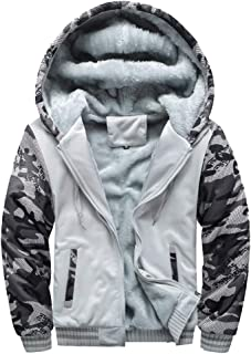 Clearance Forthery Men's Pullover Winter Fleece Hoodie Jackets Full Zip Warm Thick Coat