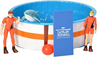 Wild Republic Dolphin Recovery Pool Playset, Gifts for Kids, Aquatic Life, 8