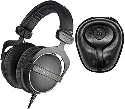 Beyerdynamic DT 770 PRO 16Ohm Over-Ear Headphones (Ninja Black, Limited Edition) with Knox Gear Hard Shell Headphone Case ...