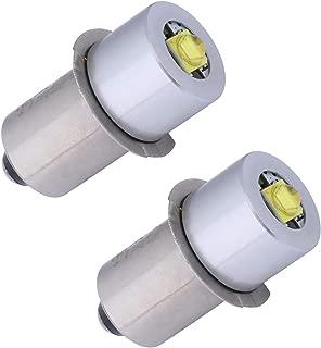 TRLIFE Maglite LED Conversion Kit, DC4-30V LED Flashlight Bulbs Replacement 3W P13.5S LED Conversion for Maglite, Set of 2 Maglite LED Bulb for 3-20 C&D Cells Maglite Flashlight 18V Flashlight(2 Pack)