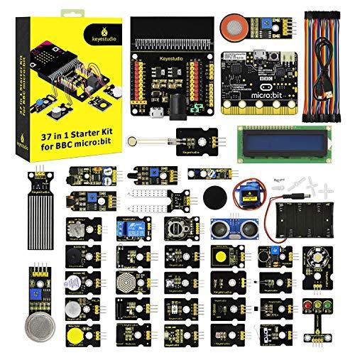 KEYESTUDIO BBC Micro:bit 37 en 1 Kit de Inicio con v1 Placa de Control para Microbit