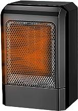TFACR Calentador Ventilador de cerámica 500 W, Calefactor de Espacio eléctrico portátil con protección contra sobrecalentamiento, Estufa electrica de para Oficina/Dormitorio