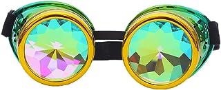 نظارات راي SLTY كاليدوسكوب نظارات Steampunk مع عدسات زجاجية كريستال قوس قزح