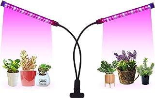 LED Grow Light Timer(3/9/12 hrs) 3 Light Mode 5 Level Dimmable Flexible Gooseneck Clip On Grow Plant Lamp for Indoor Plan...