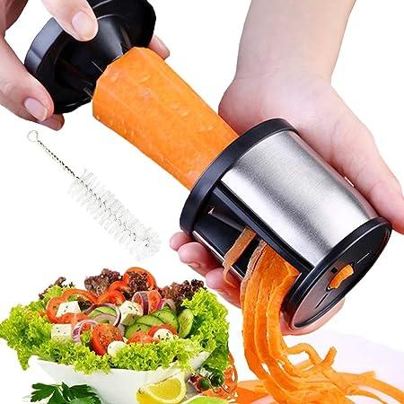 Spiraliseur de Légumes Coupe légume Spiralizer - XREXS Découpe-légumes pour Vos Fruits et légumes - Spirales, Juliennes, Spaghettis, Nouilles, Rubans ou Vermicelles