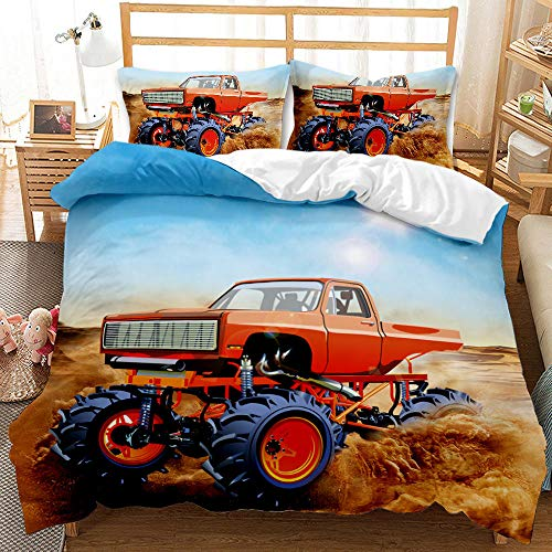 Bedclothes-Blanket Juego de sabanas Cama 90 Juveniles,Suministros de Cama de impresión Digital de 3 Piezas lijadas de 3 Piezas Coche de Coche Fresco Off-Road-5_200 * 230cm