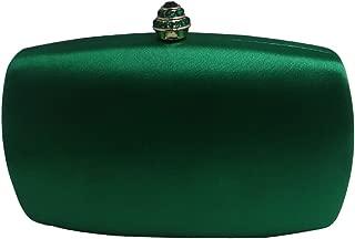 Womens Satin Silk Hard Case Box Clutch Evening Bags