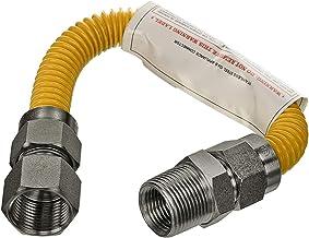 Flextron FTGC-YC12-12P 30,5 cm elastyczne złącze przewodu gazowego pokryte epoksydową o średnicy zewnętrznej 1,5 cm i złąc...