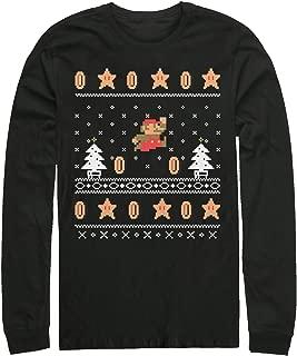 Nintendo Men's Mario Coin Ugly Christmas Sweater Long Sleeve T-Shirt