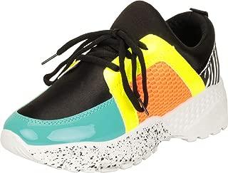 Cambridge Select Women's Retro 90s Ugly Dad Colorblock Chunky Platform Fashion Sneaker