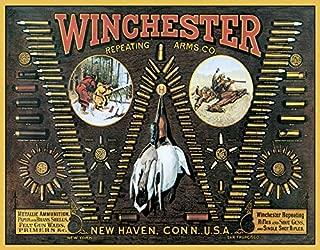 Desperate Enterprises Winchester - W Bullet Board Tin Sign, 16