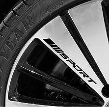 4PCS Sport Reflect Light Car Decal Sticker Rims Racing Racing Car Sticker Emblem Logo Logo Door Car Rings Wheel Hub Decal Decal لوازم جانبی خودرو دکور
