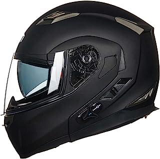 ILM Bluetooth Integrated Modular Flip up Full Face Motorcycle Helmet Sun Shield 6 Riders..