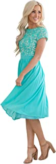 turquoise modest dresses