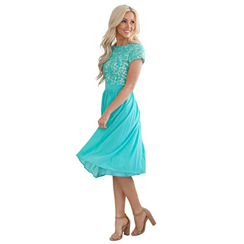 fc132cb93aa3 Blue Turquoise Bridesmaid Dresses  Amazon.com