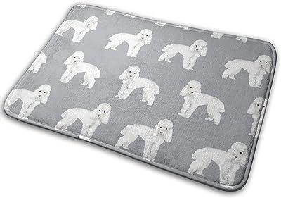 """Toy Poodle Dog Pattern Dog Grey_29101 Doormat Entrance Mat Floor Mat Rug Indoor/Outdoor/Front Door/Bathroom Mats Rubber Non Slip 23.6"""" X 15.8"""""""